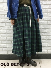 Tartam Check Volume Long Skirtが入荷致しました♪